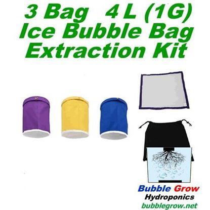 Picture of 3 X 1 GALLON (4L) BUBBLE BAGS FILTRATION HERBAL HASH ICE EXTRACTION KIT SET